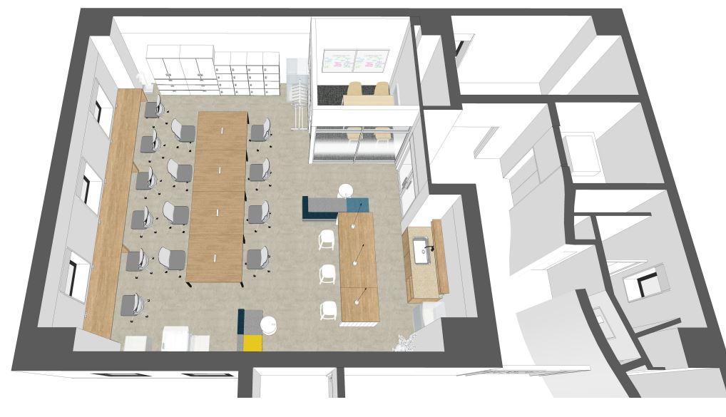 【渋谷区 恵比寿南】会議室・家具付のリノベーションオフィス 1F