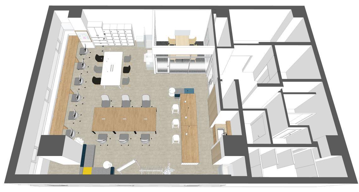 【渋谷区 恵比寿南】会議室・家具付のリノベーションオフィス 4F
